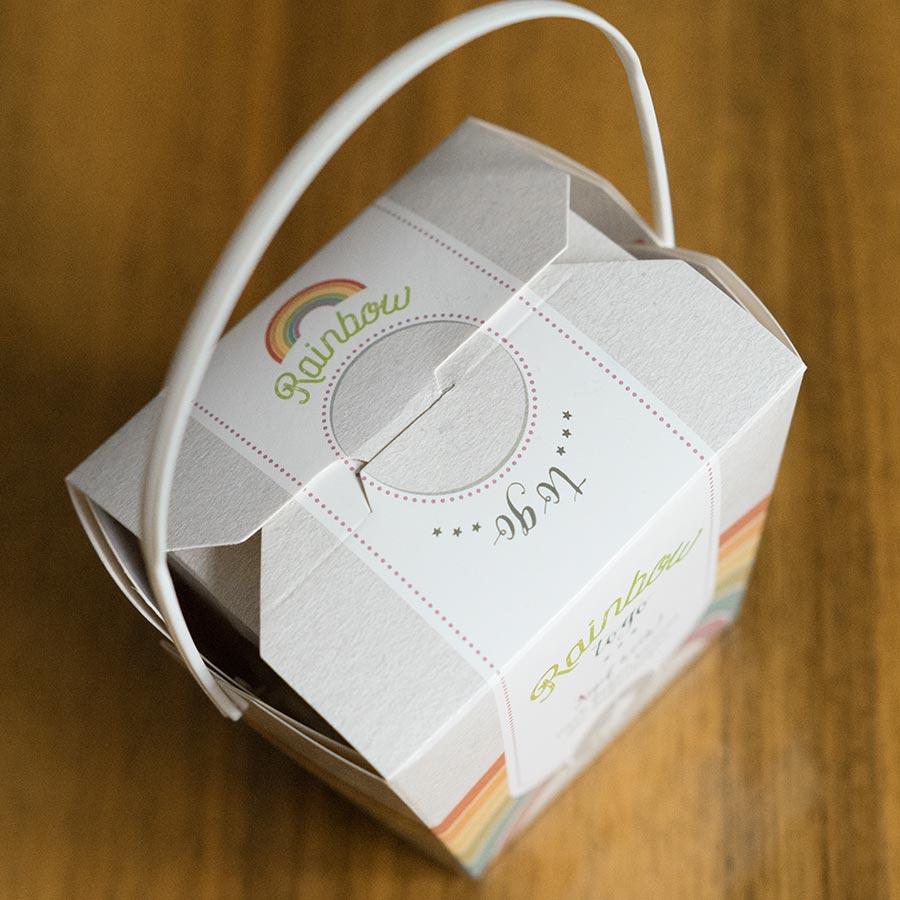 packeging design illustration rainbow liebeskummerpillen