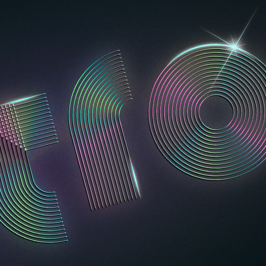 Typografie Schriftzug Intro