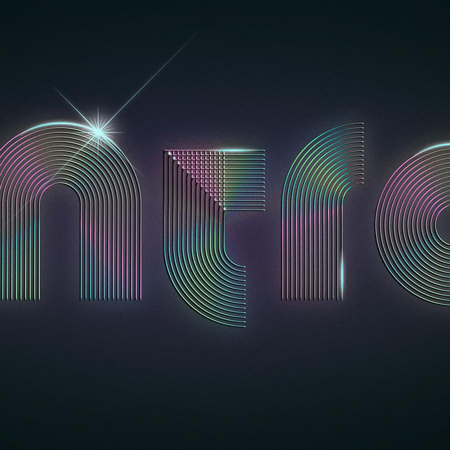 Typografie Schriftzug Zoom Intro